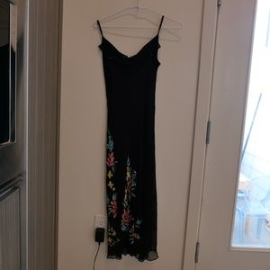 BETSEY JOHNSON EMBELLISHED 90S CROWL  DRESS 6